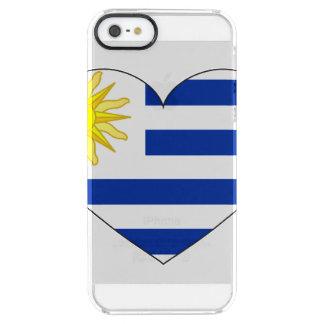 Uruguay Flag Heart Clear iPhone SE/5/5s Case