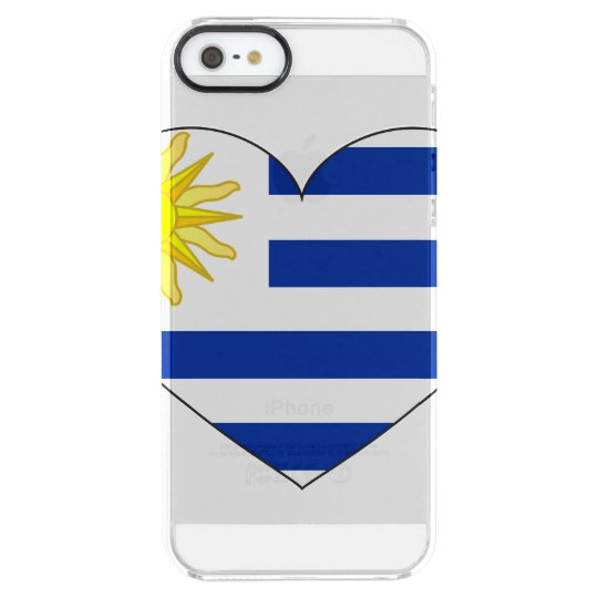 Uruguay Flag Heart Clear iPhone SE/5/5s Case