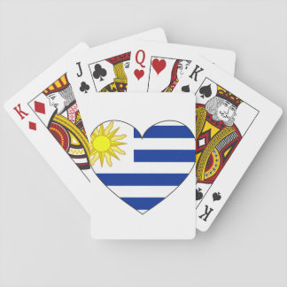 Uruguay Flag Heart Playing Cards
