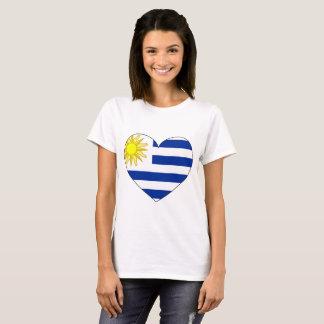 Uruguay Flag Heart T-Shirt