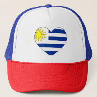 Uruguay Flag Heart Trucker Hat