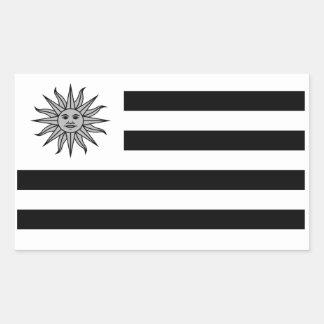 Uruguay Flag In Black And White Sticker