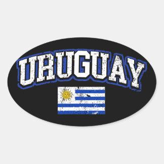 Uruguay Flag Oval Sticker