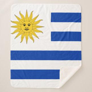 Uruguay Flag Sherpa Blanket