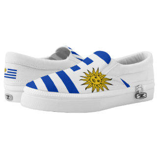 Uruguay Flag Slip-On Sneakers