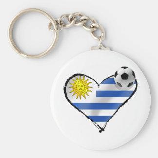 Uruguay flag soccer futbol te amo gifts keychain
