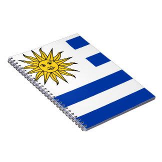 Uruguay flag spiral notebook