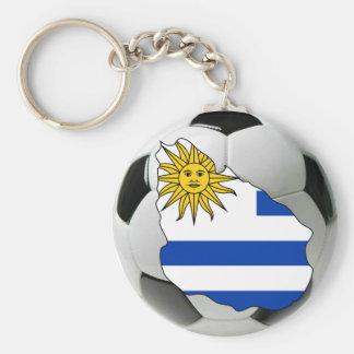 Uruguay futbol keychain