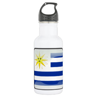 Uruguay glossy flag 532 ml water bottle