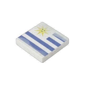Uruguay glossy flag stone magnets