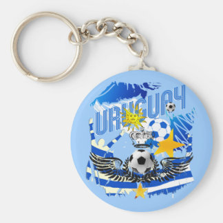 Uruguay grunge graphic art soccer futbol gifts keychain