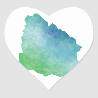 Uruguay Heart Sticker