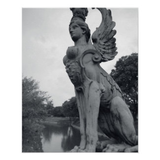 Uruguay, Montevideo, Barrio Prado, mythological Poster
