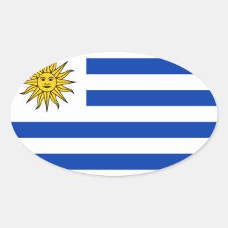 Uruguay National Flag Oval Sticker