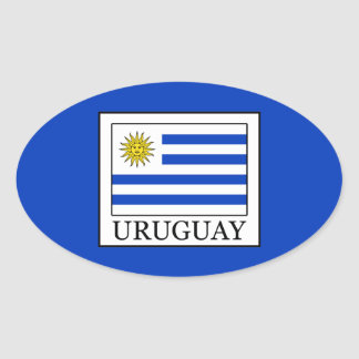 Uruguay Oval Sticker