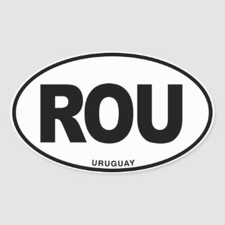 Uruguay ROU Oval ID Identification Code Initials Oval Sticker