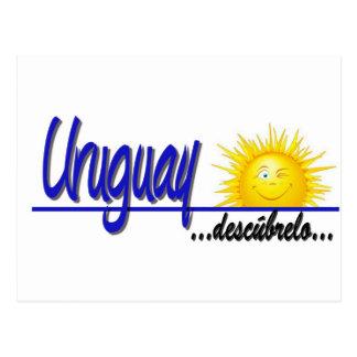 Uruguay slogan sun postcard
