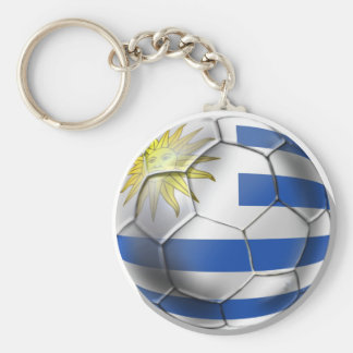 Uruguay soccer ball futbol flag Charruas gifts Basic Round Button Keychain