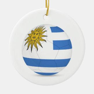 uruguay soccer ball.jpg ceramic ornament