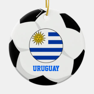 Uruguay Soccer Fan Ornament 2 Times World Cup Cham