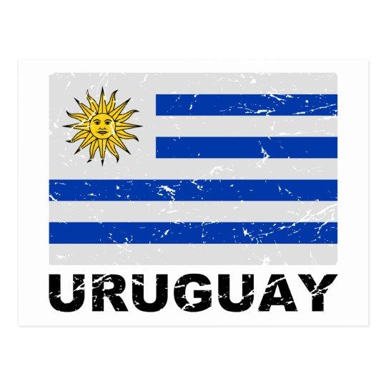 Uruguay Vintage Flag Postcard