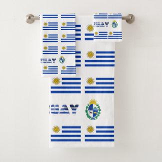 Uruguayan flag bath towel set