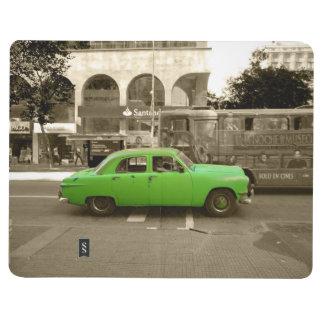 Uruguayan old green car journal
