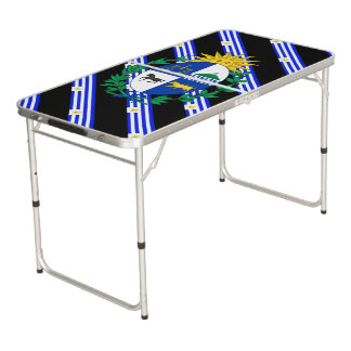 Uruguayan stripes flag beer pong table