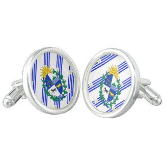 Uruguayan stripes flag cufflinks
