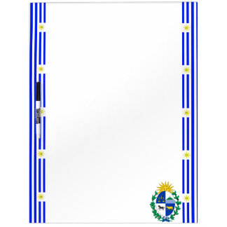 Uruguayan stripes flag dry erase board