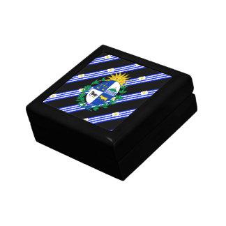 Uruguayan stripes flag gift box