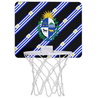 Uruguayan stripes flag mini basketball hoop
