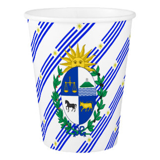 Uruguayan stripes flag paper cup