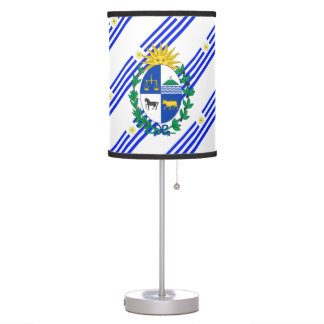 Uruguayan stripes flag table lamp