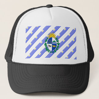 Uruguayan stripes flag trucker hat