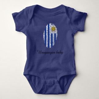 Uruguayan touch fingerprint flag baby bodysuit