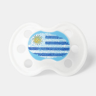 Uruguayan touch fingerprint flag baby pacifier