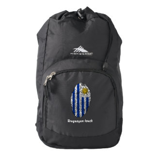 Uruguayan touch fingerprint flag backpack