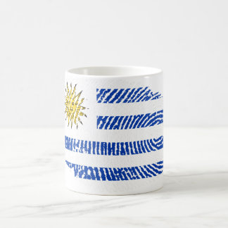 Uruguayan touch fingerprint flag coffee mug