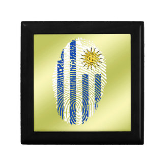 Uruguayan touch fingerprint flag jewelry boxes