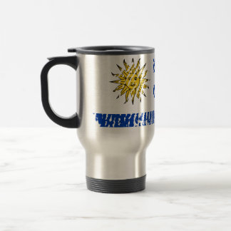 Uruguayan touch fingerprint flag travel mug