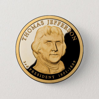 US $1 Coin Proof Thomas Jefferson 2 Inch Round Button