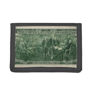 US 2 Dollar Bill Trifold Wallet