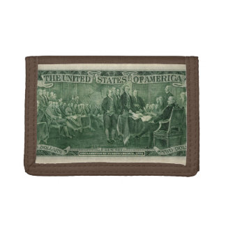 US 2 Dollar Bill Trifold Wallets