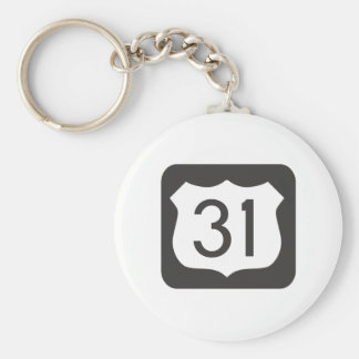 US-31 Scenic Highway Keychain