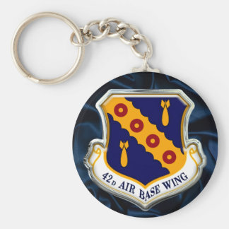 US 42d Air Base Wing Basic Round Button Keychain