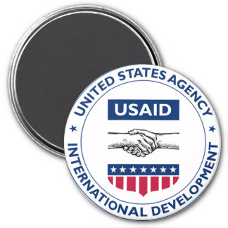US AID Agency for International Development 3 Inch Round Magnet