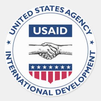 US AID Agency for International Development Classic Round Sticker