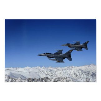 US Air Force F-16 Fighting Falcons Photographic Print