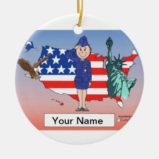 US Air Force - Female Ceramic Ornament